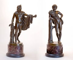 Pair of Figural Bronzes
