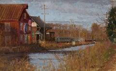 """Early Light, New Hope Railway Yard"""