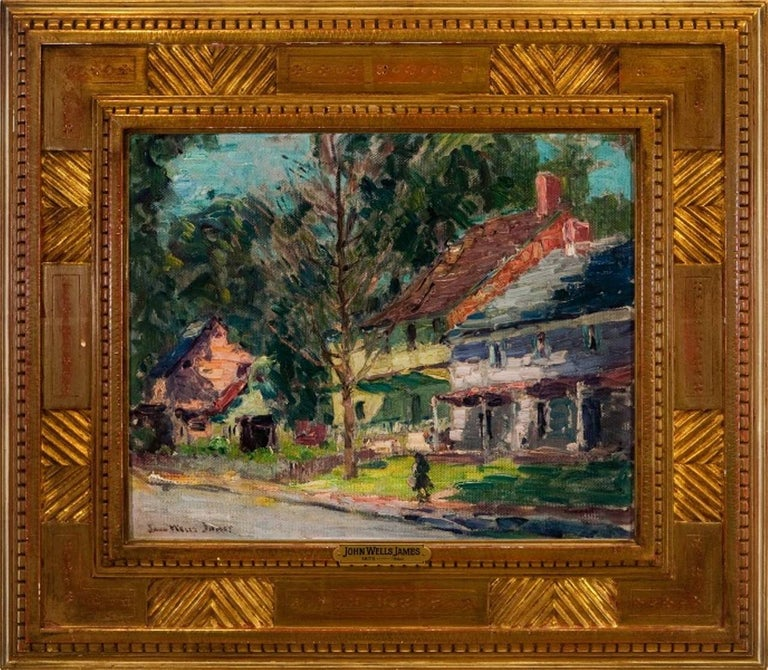 "John Wells James Landscape Painting - ""A New Hope Street"""