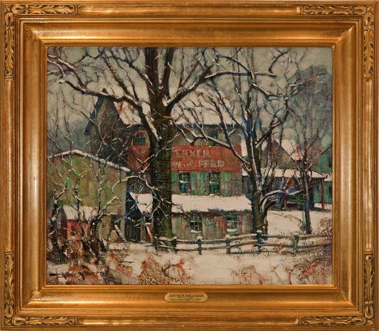 "Arthur Meltzer Landscape Painting - ""Sterners Mill"""