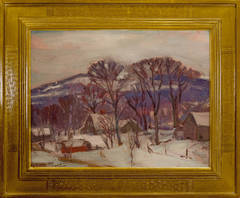 """Winter Sketch in the Hills Near Sherman, Connecticut"""