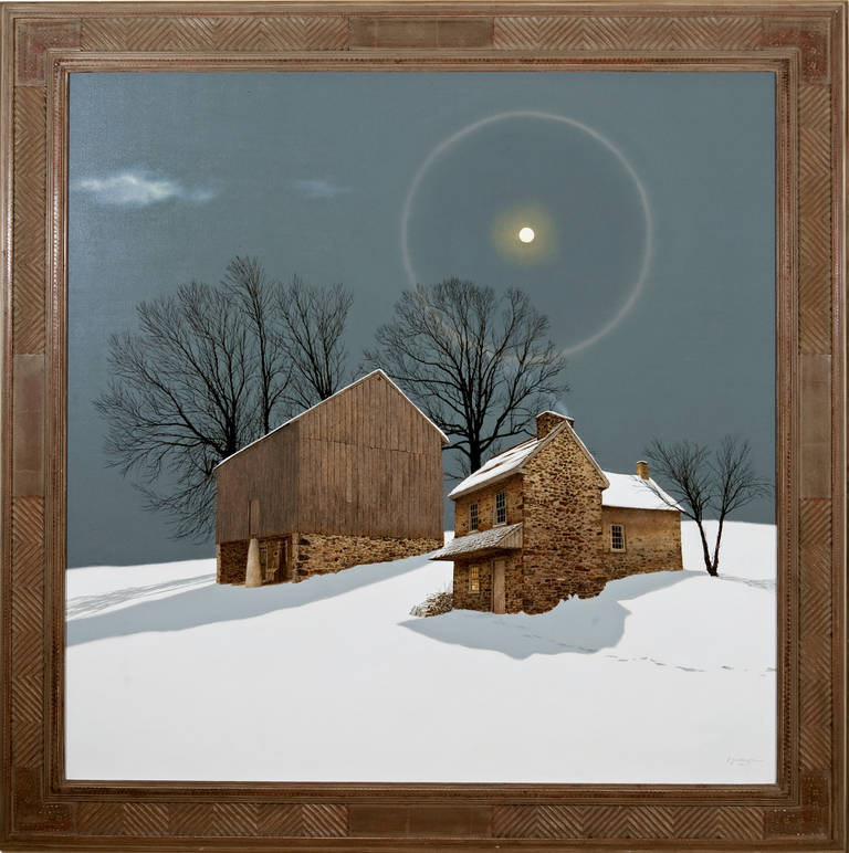Peter Sculthorpe Full Moon Bright Night Painting At