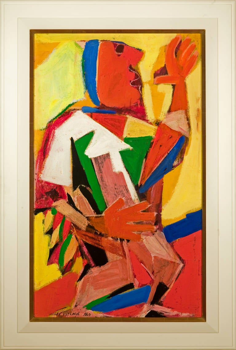 Vaclav Vytlacil Abstract Painting - The Chief