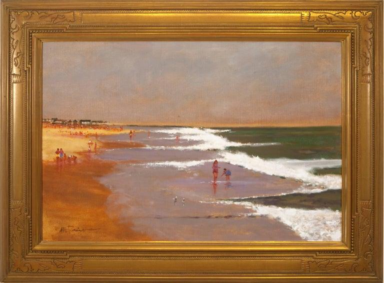 Anthony Michael Autorino Landscape Painting Ping Storm Long Beach Island New Jersey