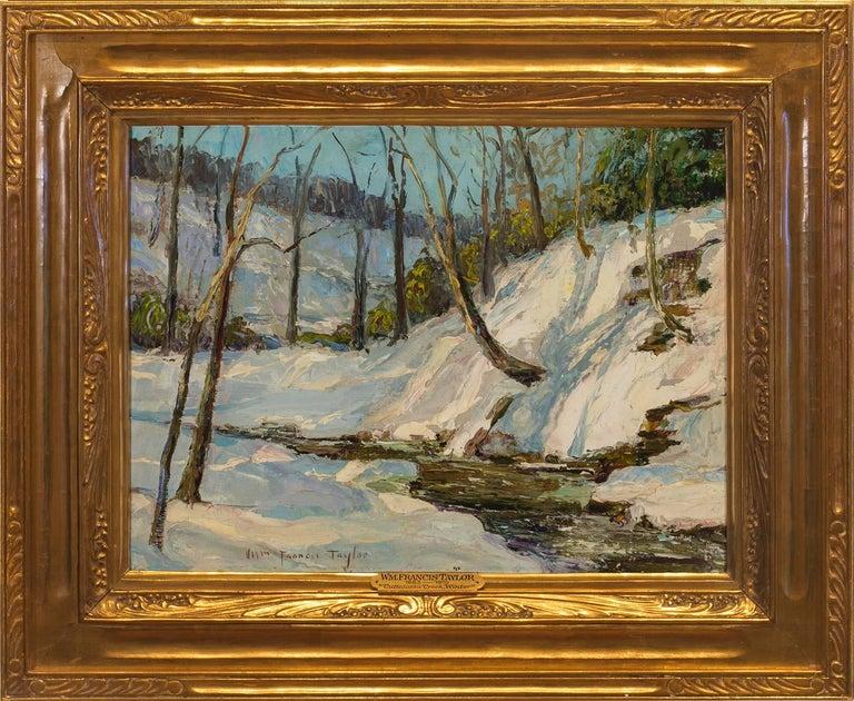 "William Francis Taylor Landscape Painting - ""Cuttalossa Creek, Winter"""