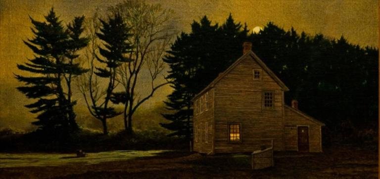 Peter Sculthorpe Quot The Eastern Moon Quot Painting For Sale