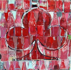 The Regal Clover / Coke Work original Pop Art iconic bold RED painting