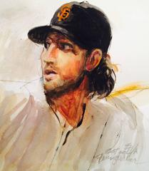 Bumgarner portrait - World Series