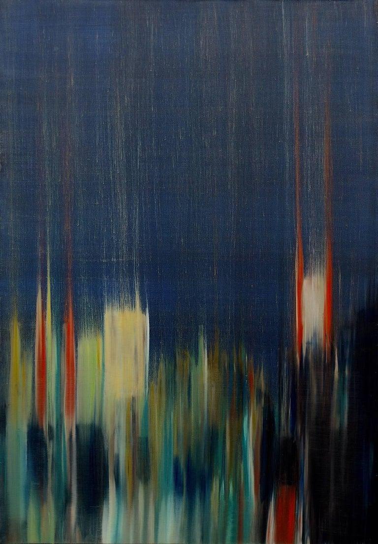 Frédéric Choisel Abstract Painting - Bruit dans la Ville I  /  oil on linen over panel