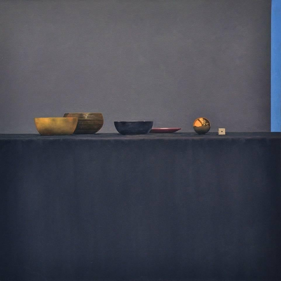 Still Life with Purple Plate / oil on canvas
