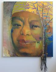 Portrait of Maya Angelou by important late career artist Badgley Arnoux
