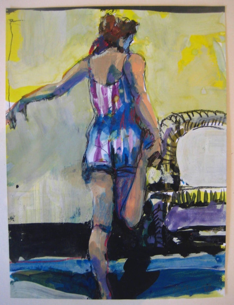 Kim Frohsin Figurative Painting - Stephanie with Foothold