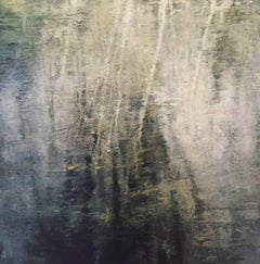 Merced River II / abstract oil on linen over wood