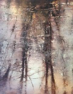 Ice Pond III / oil on linen over wood