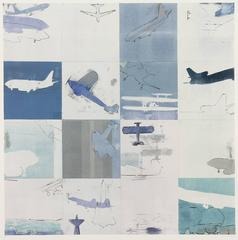 Blue Flight / monoprint