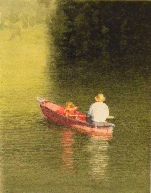 Man and Girl Fishing
