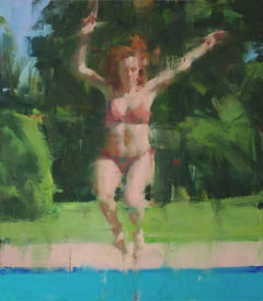 Leaping figure / oil on canvas