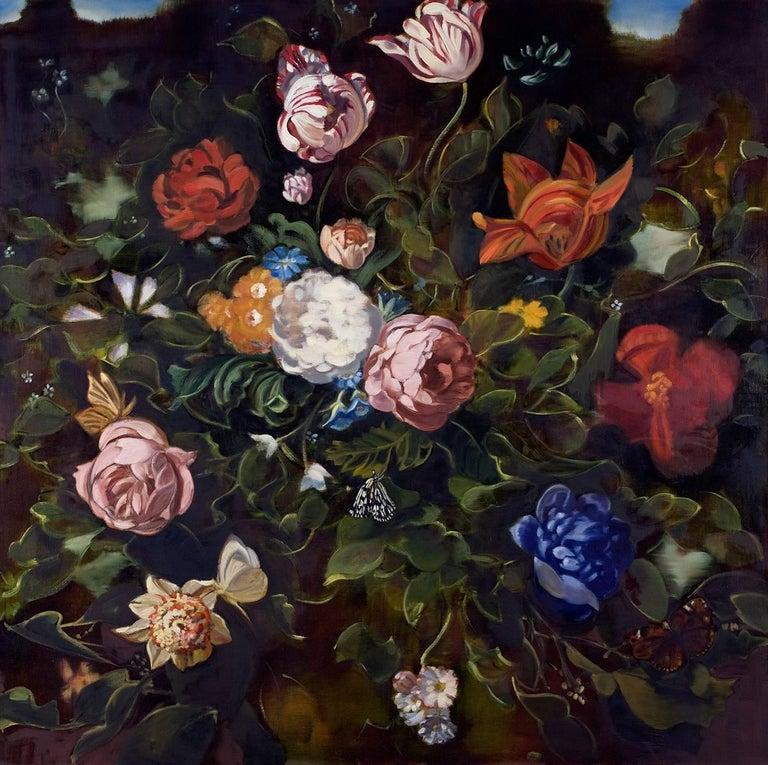 Double Dutch II  /  oil on canvas floral dark 1