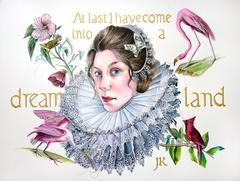 Dreamland / brilliant watercolor framed lacquer