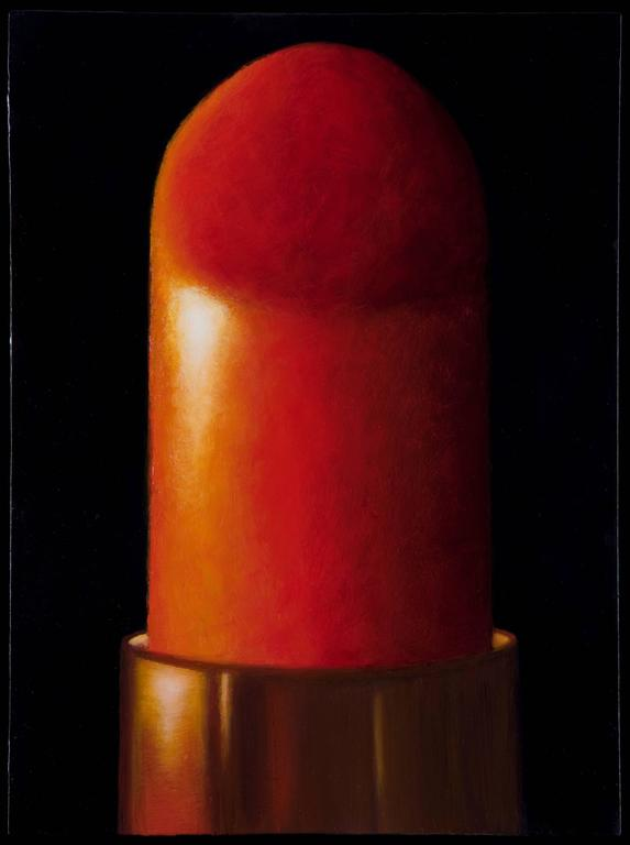 Power Red  / oil on panel - lipstick