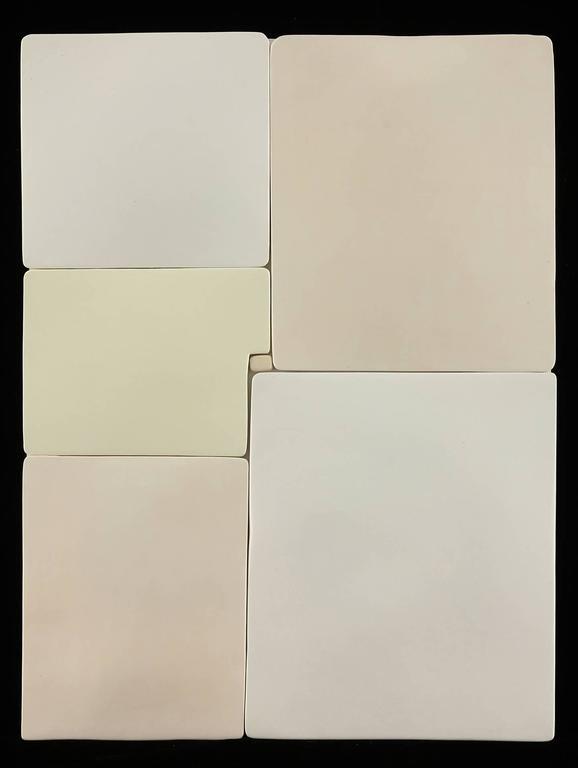 Mondrian III - ceramic wall sculpture