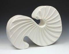 Swirl IV - ceramic freestanding sculpture