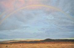 Santa Fe Arch — Rainbow over dessert / oil on canvas