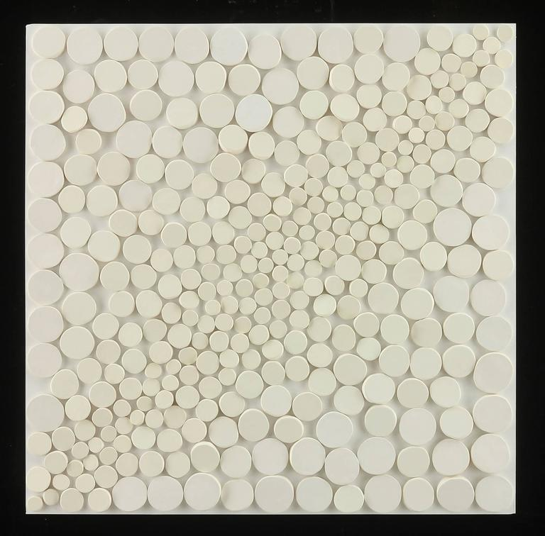 Be Bop I  / white wall sculpture