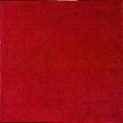 Rose / abstract calm oil on canvas in red