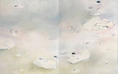 No Here, No There / oil on canvas diptych 60 x 96 inches