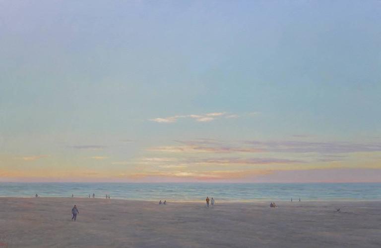 Ocean Beach / oil on canvas painting
