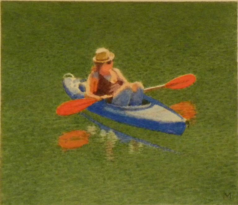 Girl in Blue Kayak