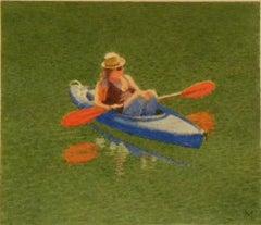 Girl in Blue Kayak