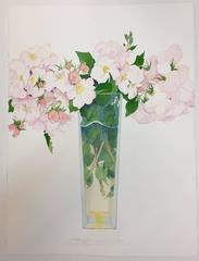 Wild Roses in A tall Vase