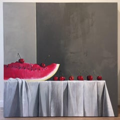 When Life is Still / watermelon and cherries - Magic Realism