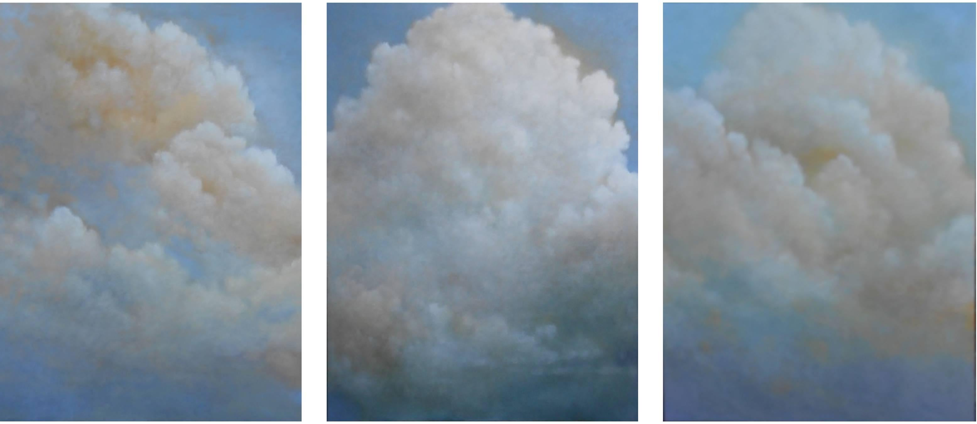 Out of the Blue (triptych) cloud study
