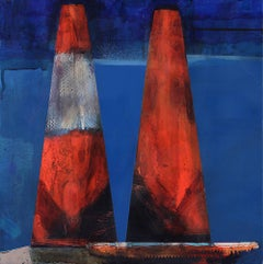 Cones: Married Couple / mixed media painting