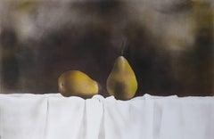 Pears / mixed media quiet still life, framed