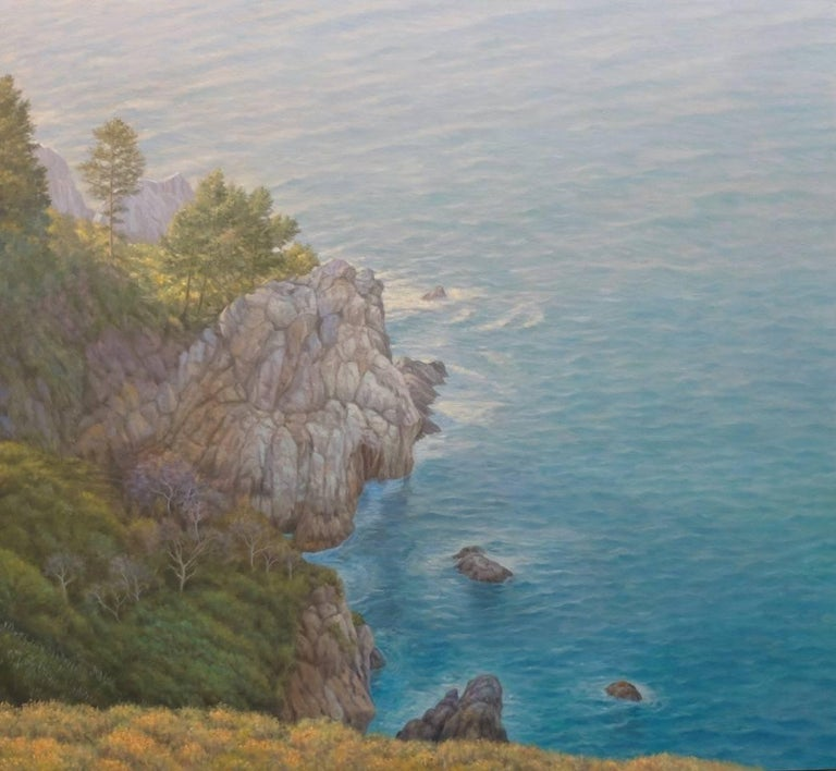 Willard Dixon Landscape Painting - Big Sur / oil on canvas