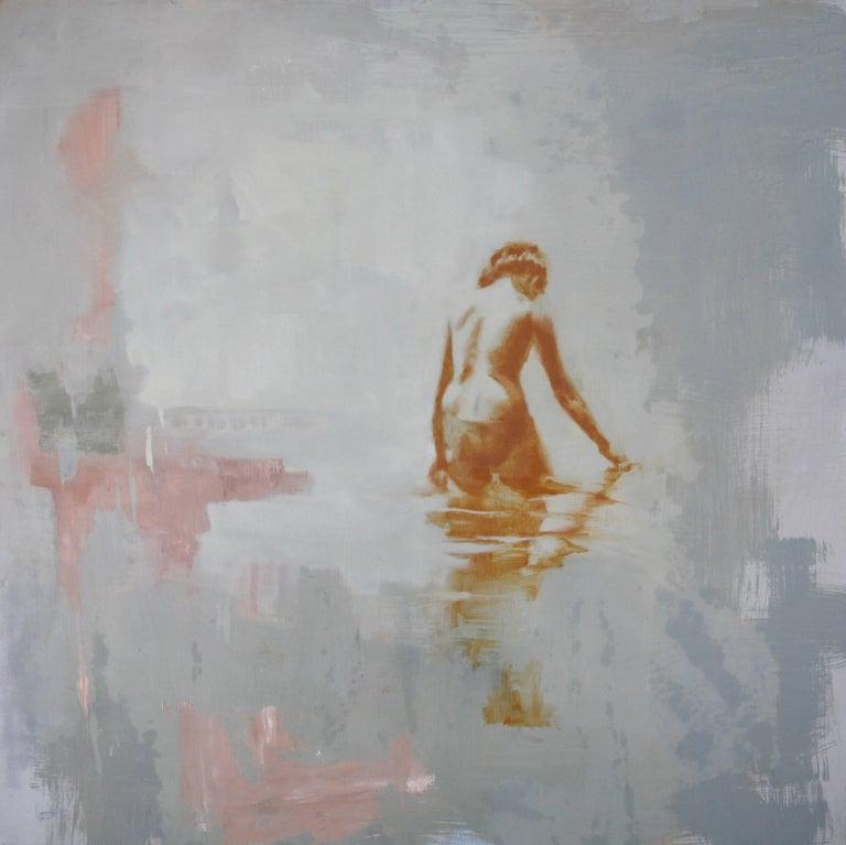 Diana Tremaine Figurative Painting - Full Moon / oil on panel