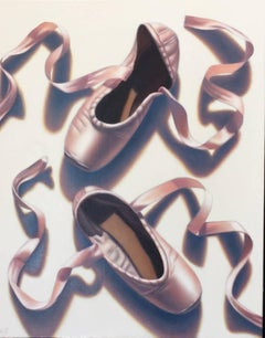 Portrait of a Dancer / ballet shoes oil on canvas