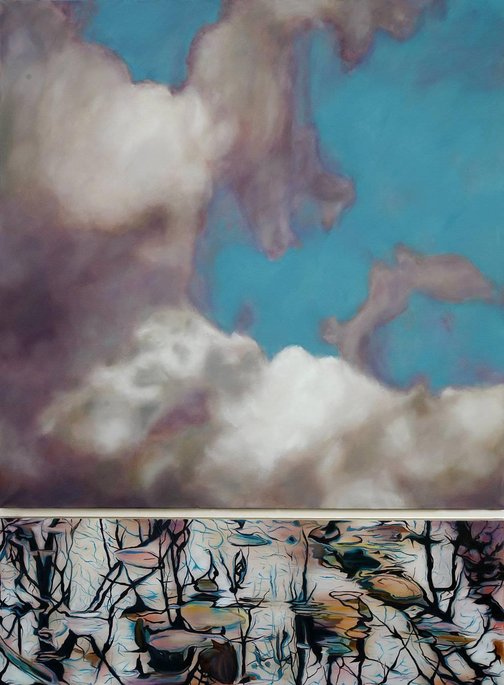 Elevation / diptych - oil on linen