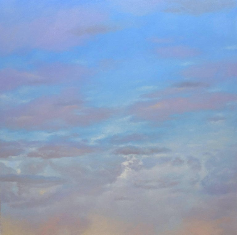Blue and Yellow Sky / two oil paintings 2