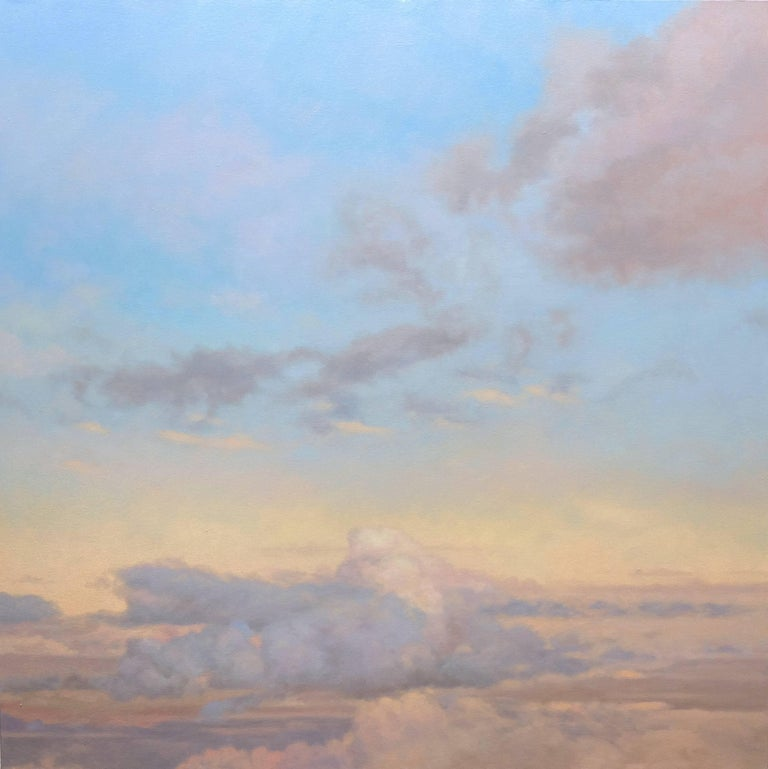 Blue and Yellow Sky / two oil paintings - Painting by Willard Dixon