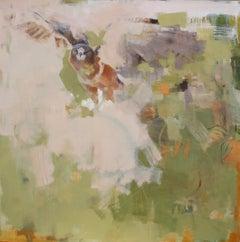 Hunter / Swanson's hawk - oil on canvas