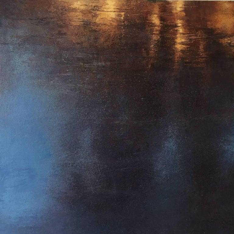 Blue Pond / oil on linen over wood