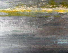 Evening Skies / mixed media oil painting