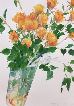 Celebration Roses III / watercolor