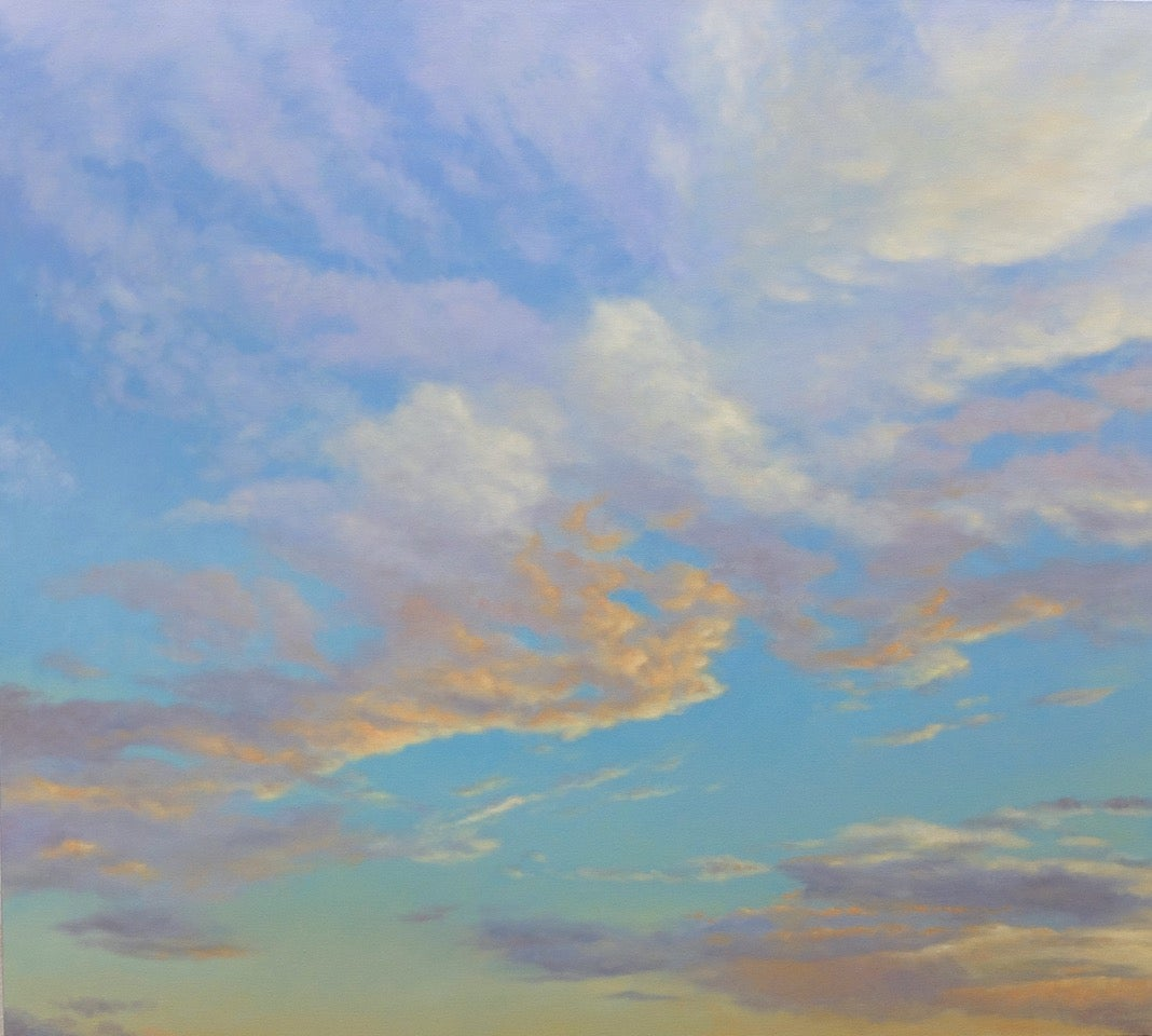 Orange Clouds - early evening light, abstract realism