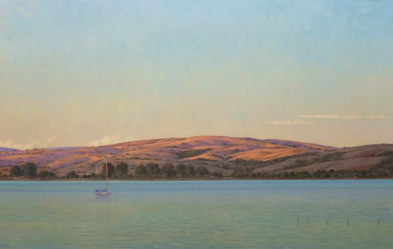 Tamales Bay Evening / oil on canvas